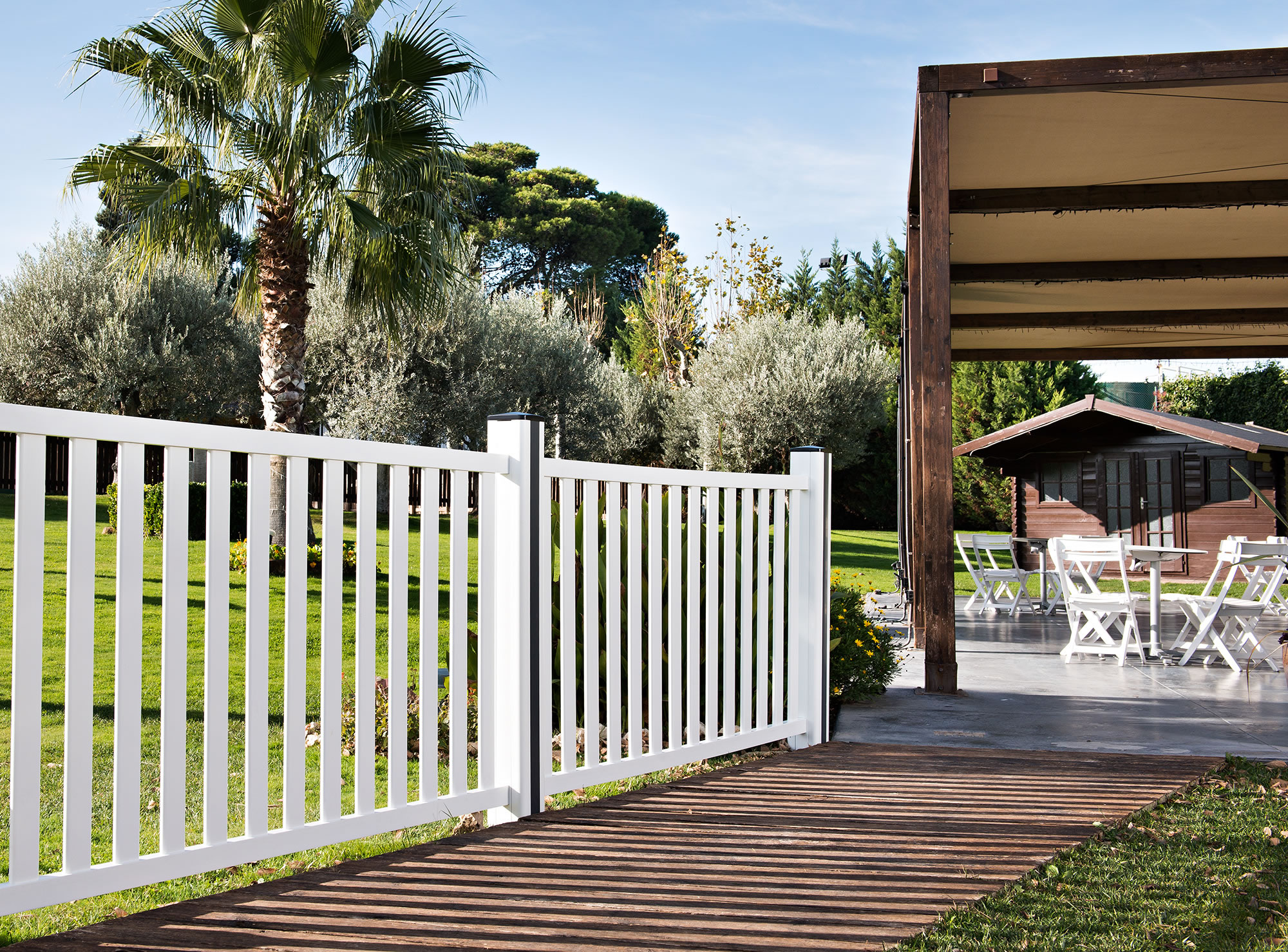 Vallas de jardin y cerramientos privence - Vallas jardin pvc ...